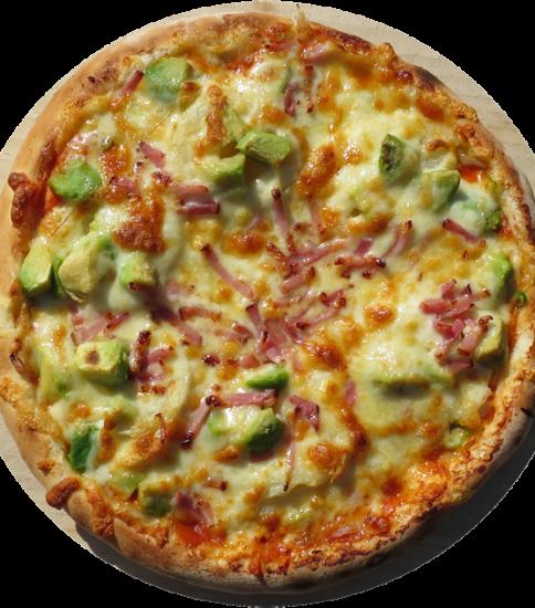 アボガドとアイダホポテトのピザ